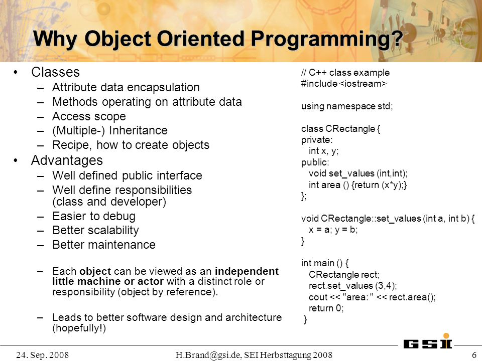 Why Object Oriented Programming
