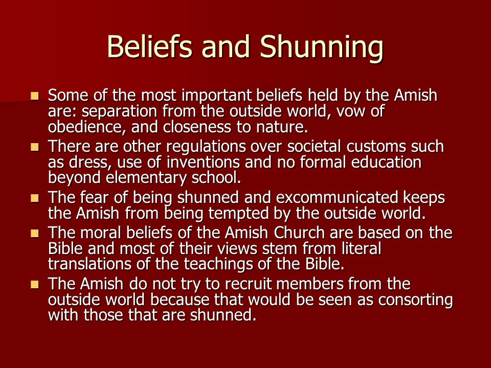 Beliefs and Shunning
