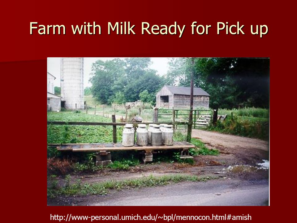 Farm with Milk Ready for Pick up