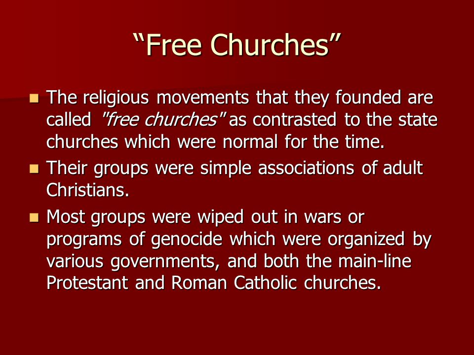 Free Churches