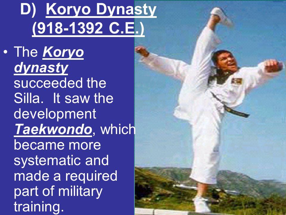 D) Koryo Dynasty (918-1392 C.E.)