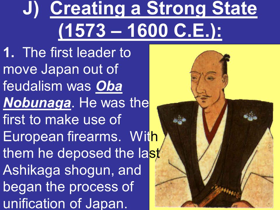 J) Creating a Strong State (1573 – 1600 C.E.):