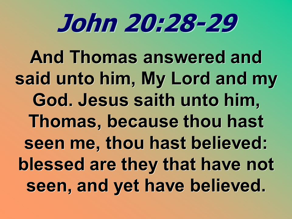 John 20:28-29