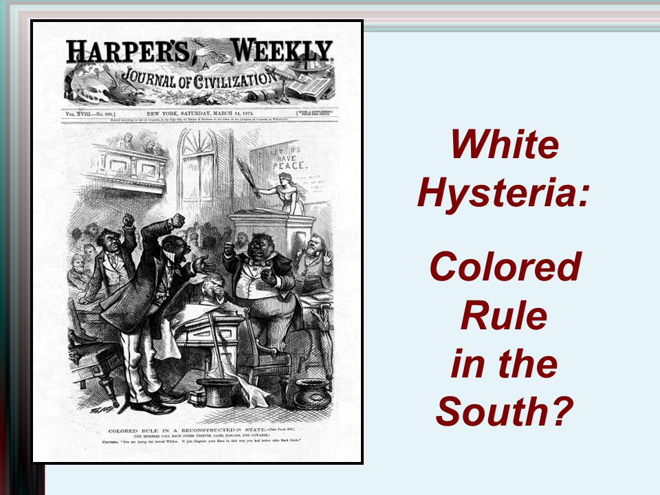 Colored Rule in the South