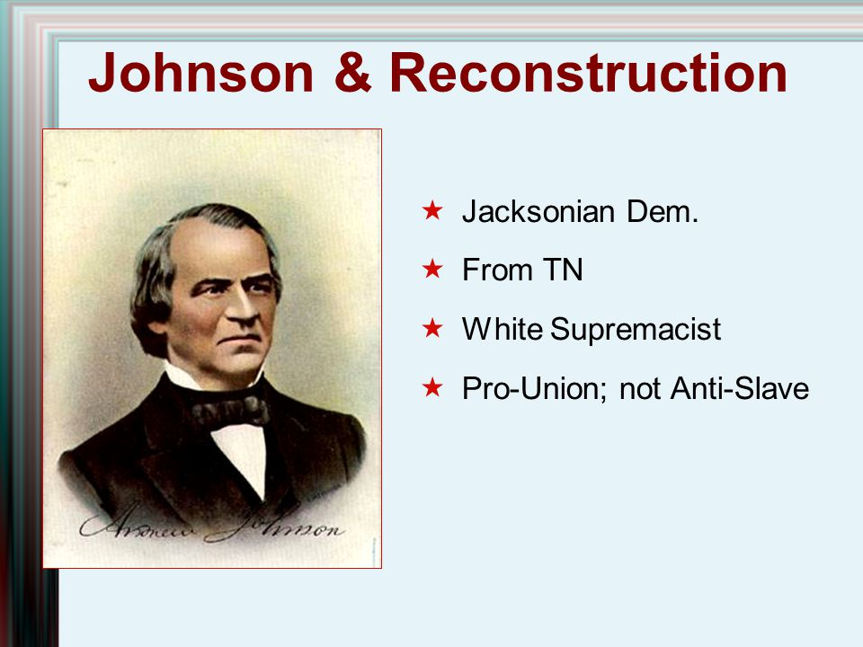 Johnson & Reconstruction