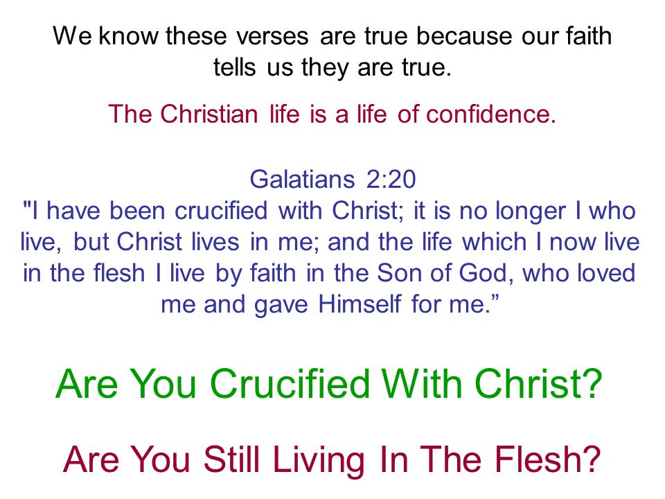 Are You Crucified With Christ