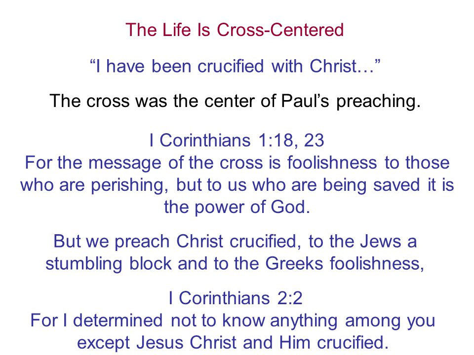 The Life Is Cross-Centered