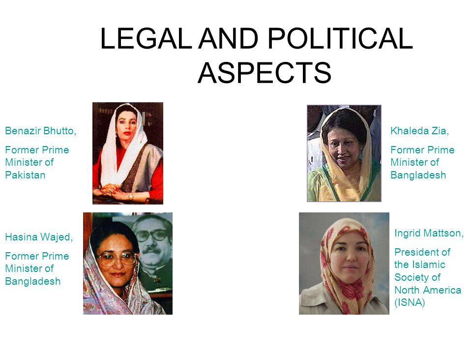 LEGAL AND POLITICAL ASPECTS