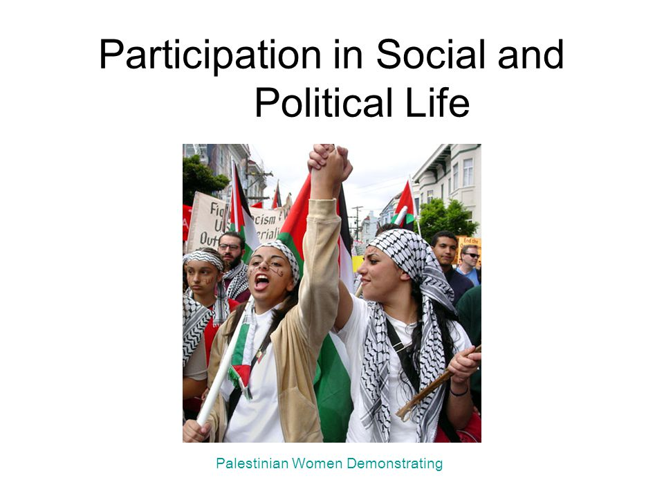 Participation in Social and Political Life