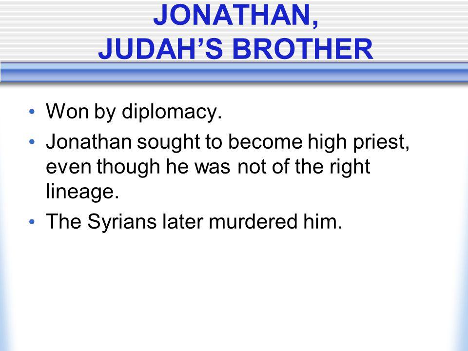 JONATHAN, JUDAH'S BROTHER
