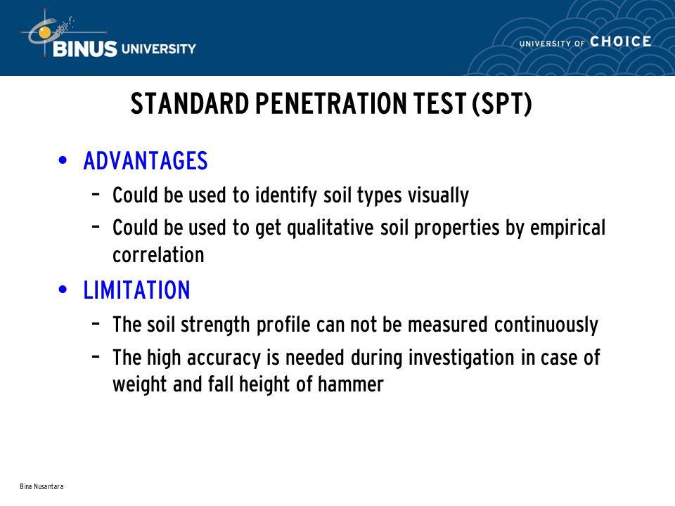 STANDARD PENETRATION TEST (SPT)