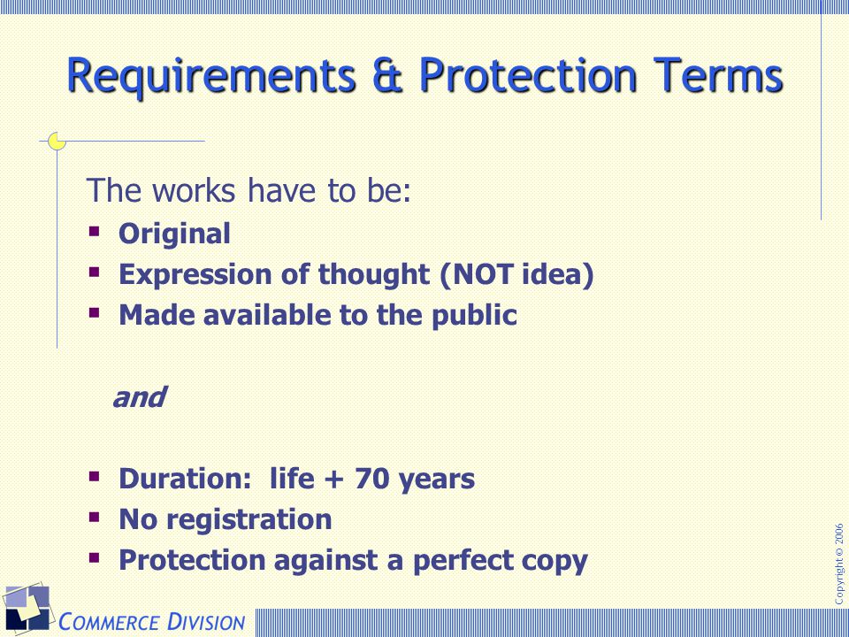 Requirements & Protection Terms