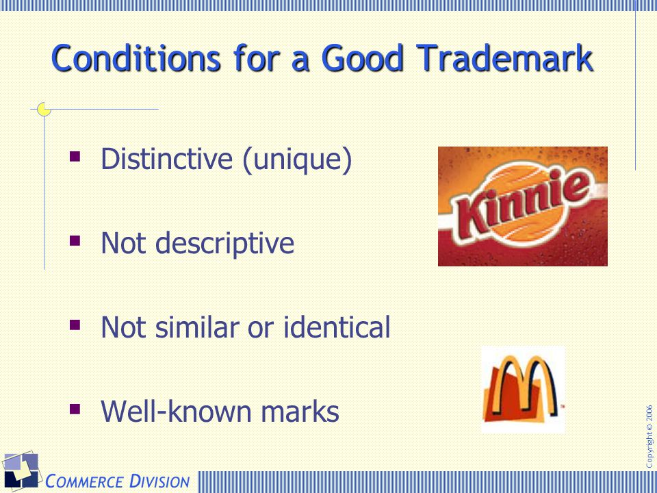 Conditions for a Good Trademark