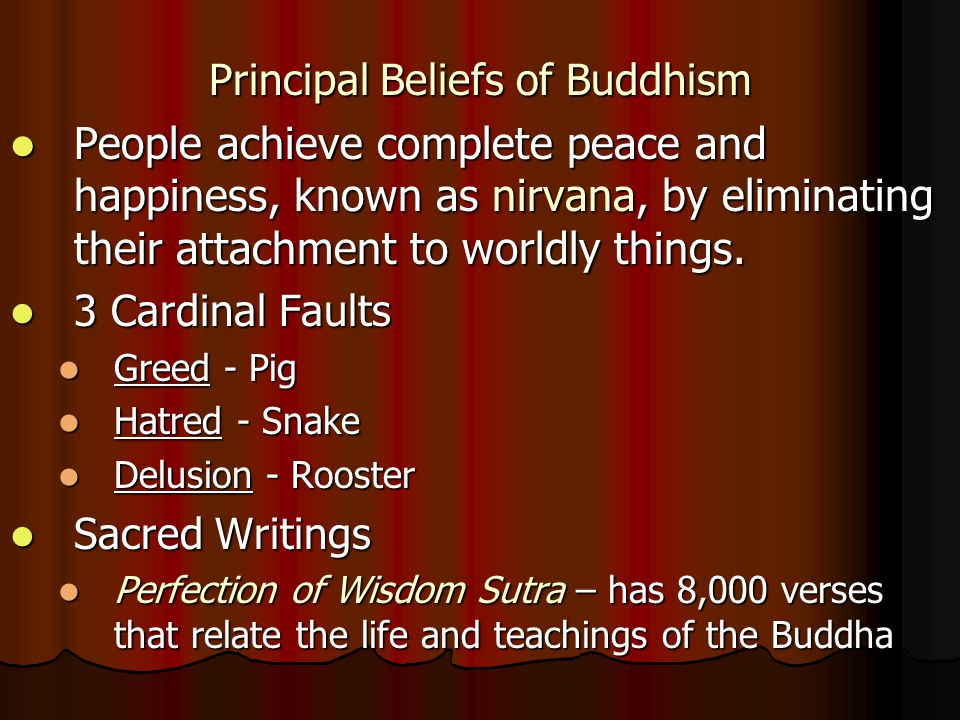 Principal Beliefs of Buddhism
