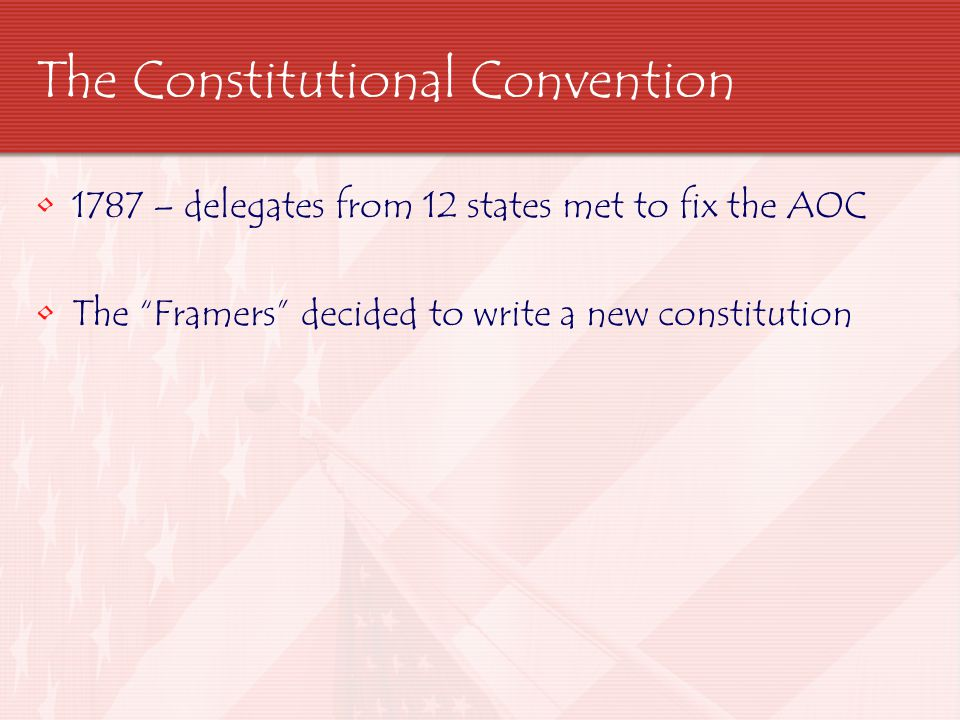 in the constitution today it delegates The report, a draft constitution of twenty-three articles, was read aloud, and each delegate received a seven-folio-page printed copy with ample margins for notes and revisions after hearing the report, the delegates adjourned for the day.