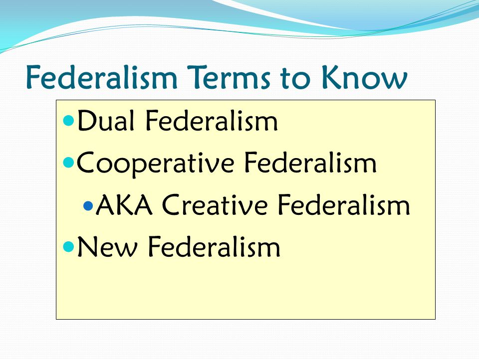 Federalism Terms to Know