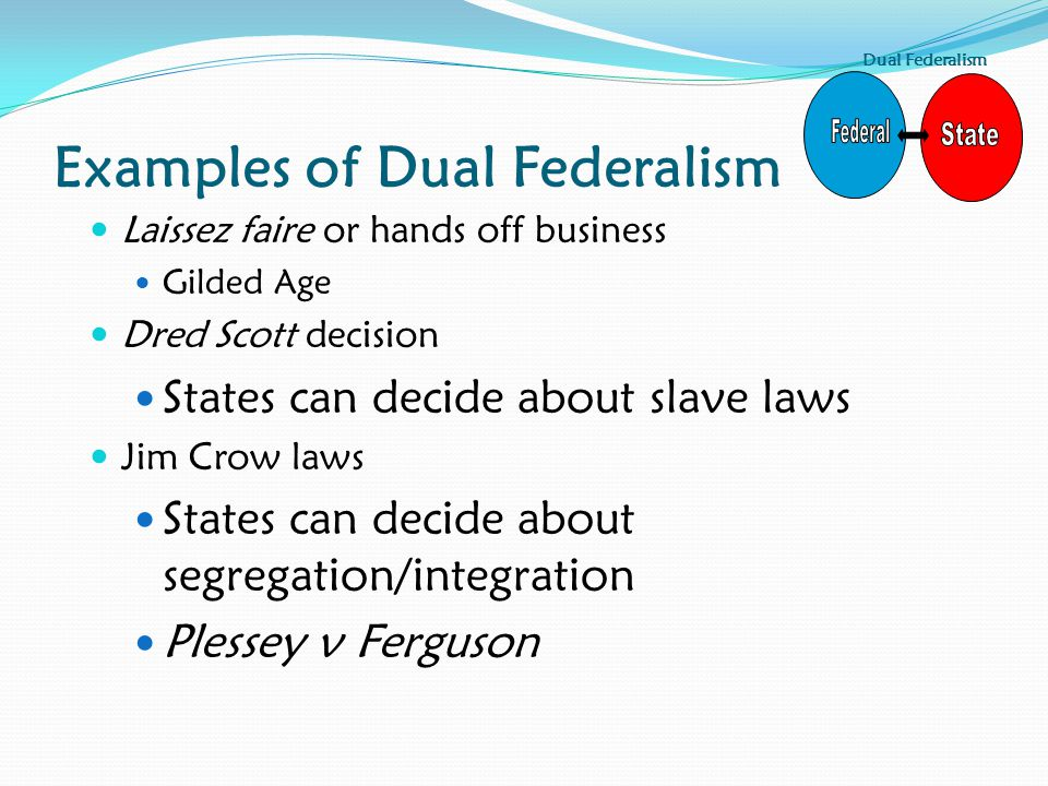 Examples of Dual Federalism