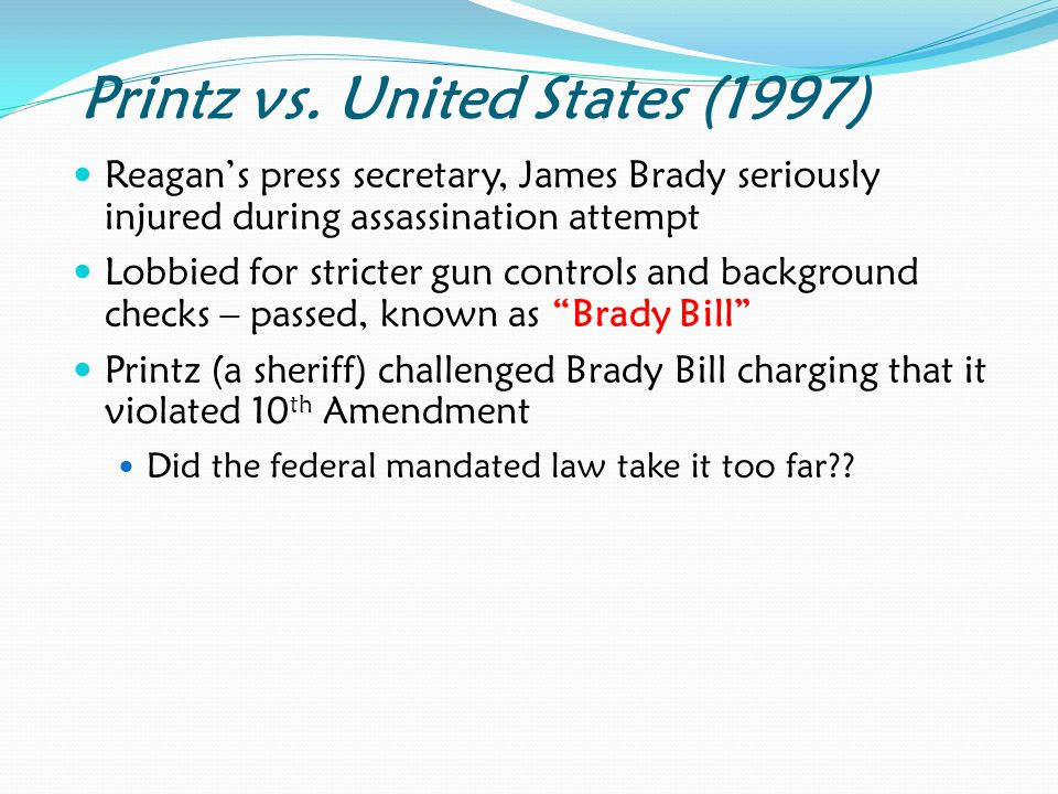 Printz vs. United States (1997)