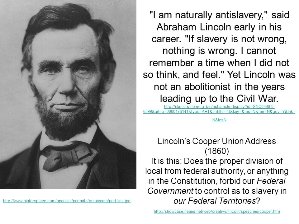 Lincoln's Cooper Union Address (1860)