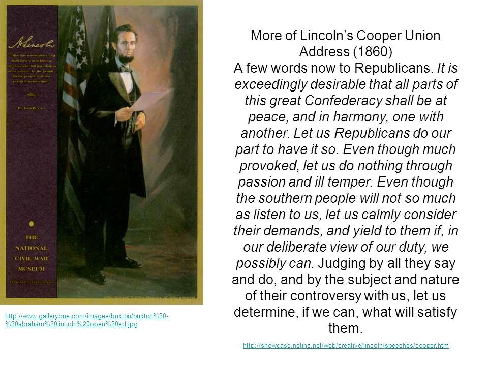 More of Lincoln's Cooper Union Address (1860)