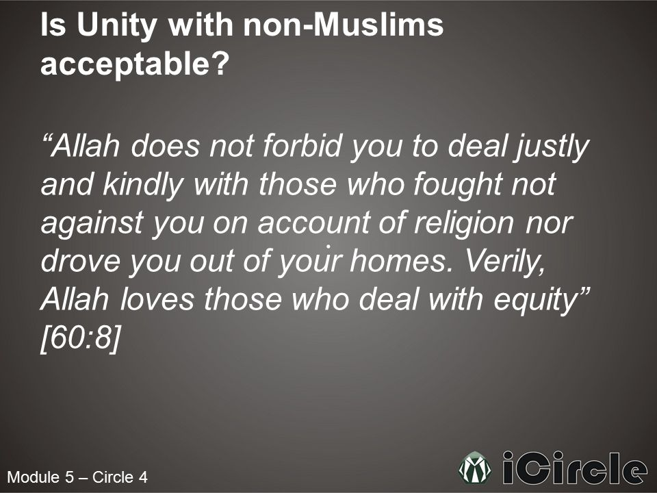 Is Unity with non-Muslims acceptable