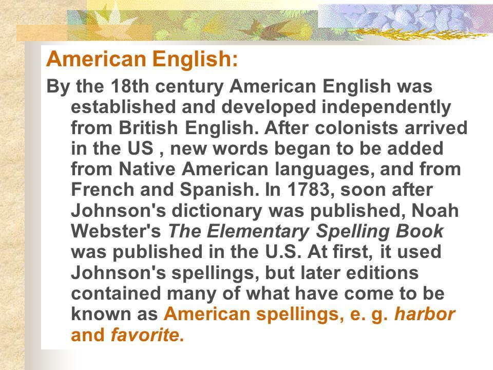 American English: