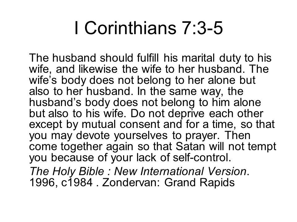 I Corinthians 7:3-5