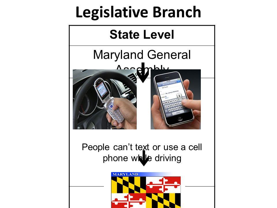 Legislative Branch State Level Maryland General Assembly