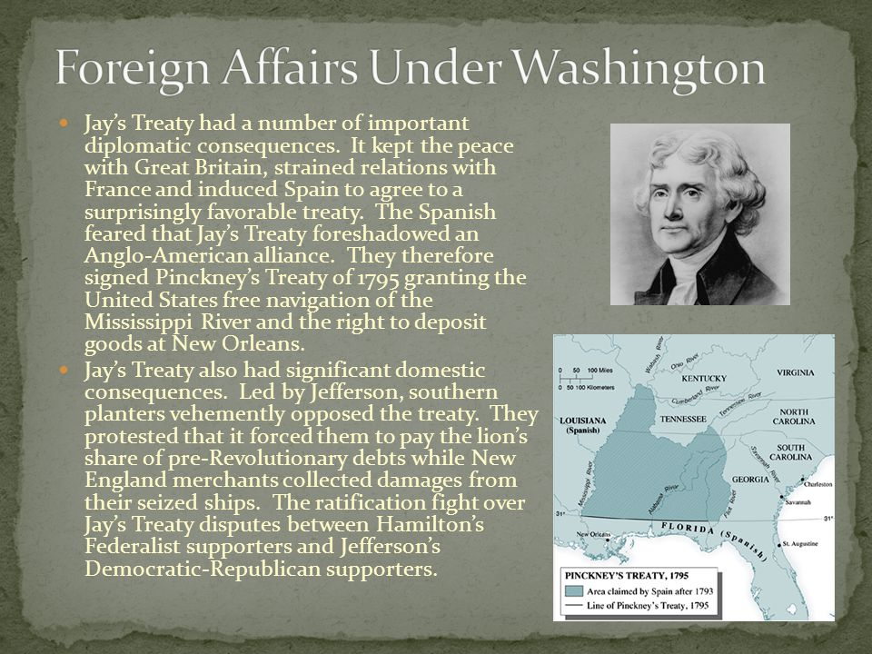 Foreign Affairs Under Washington