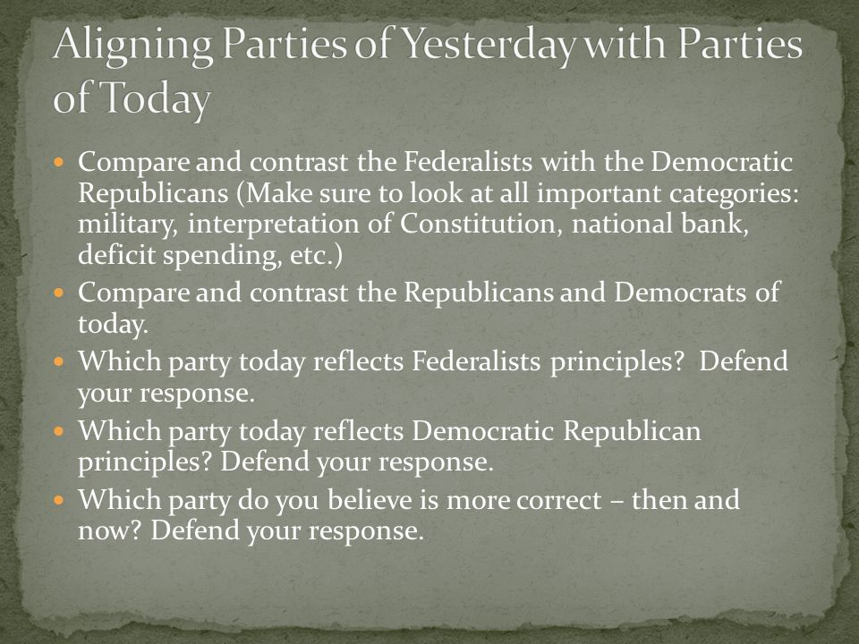Aligning Parties of Yesterday with Parties of Today