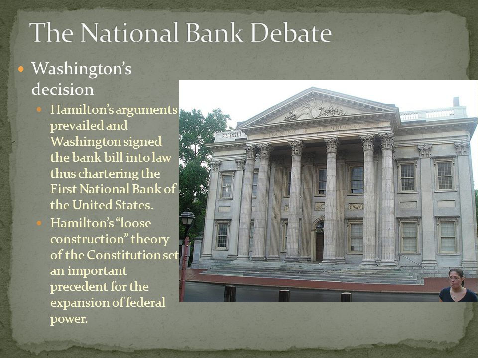 The National Bank Debate