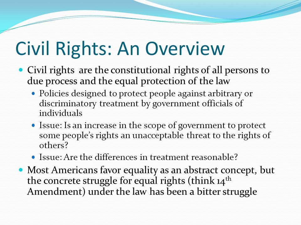 Civil Rights: An Overview