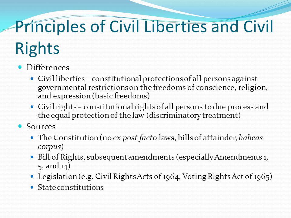 Principles of Civil Liberties and Civil Rights