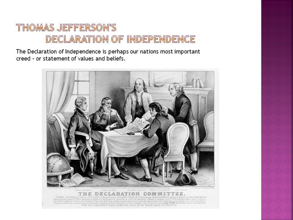 Thomas Jefferson s Declaration of independence