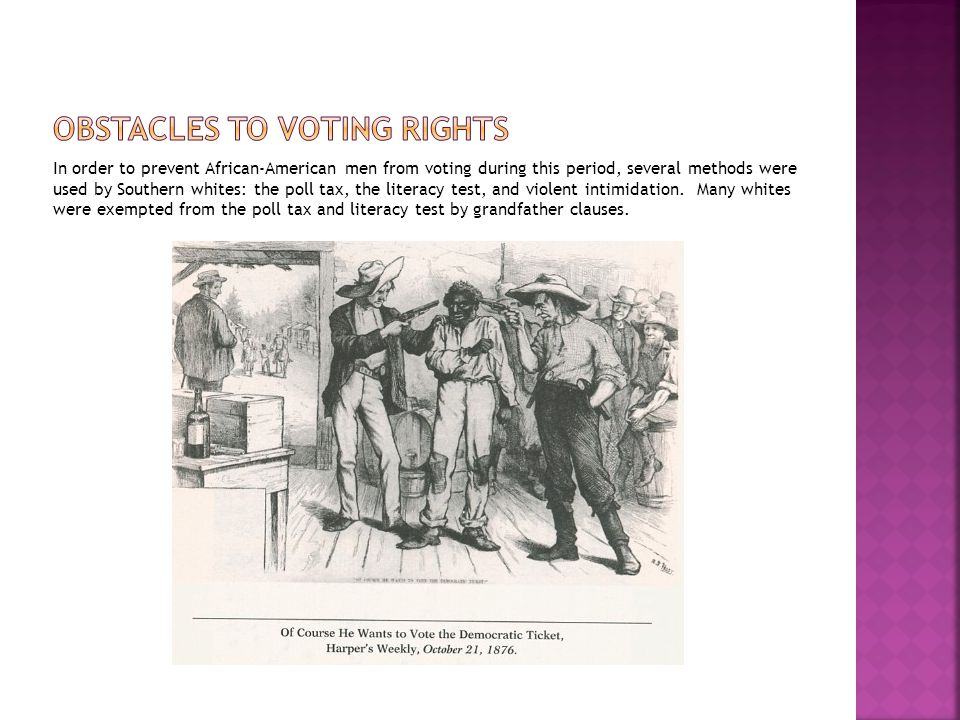 Obstacles to voting rights