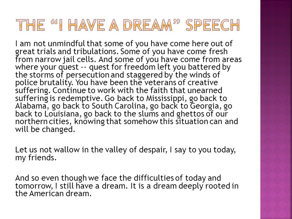 The I Have a Dream Speech
