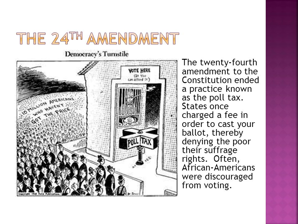 The 24th Amendment