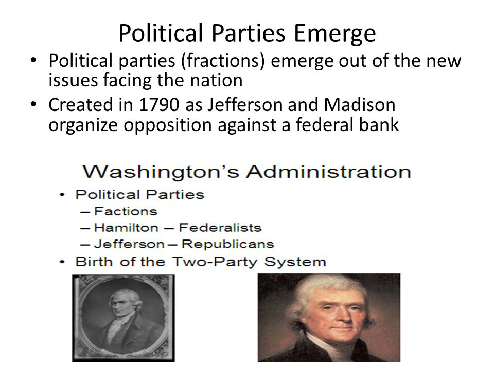 Political Parties Emerge