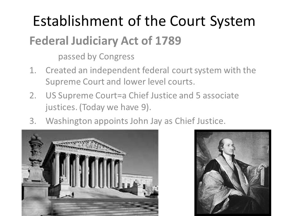 Establishment of the Court System
