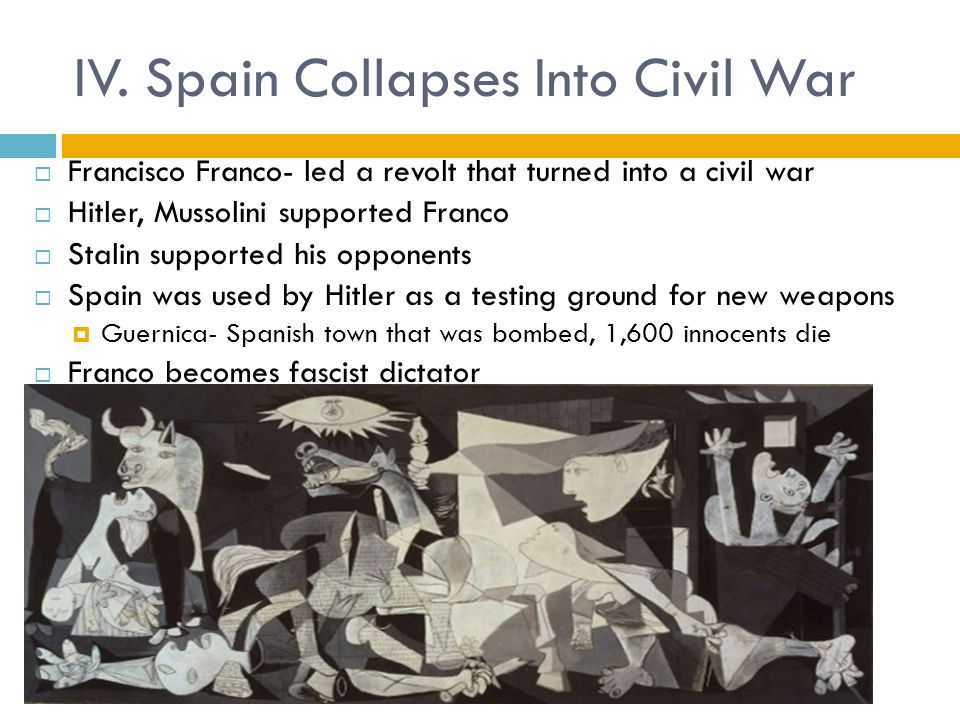 IV. Spain Collapses Into Civil War