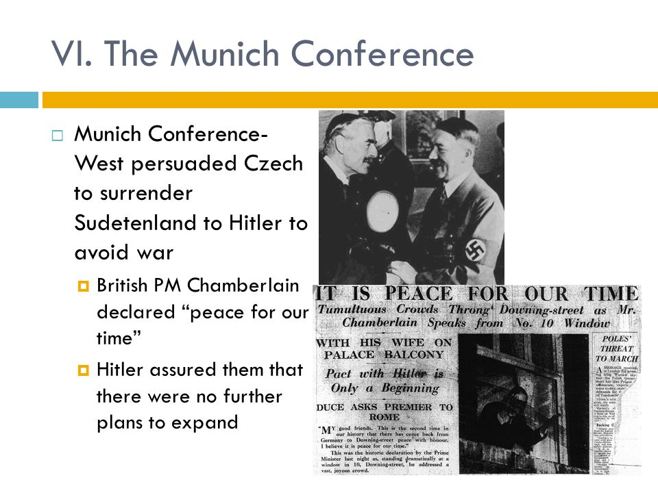 VI. The Munich Conference
