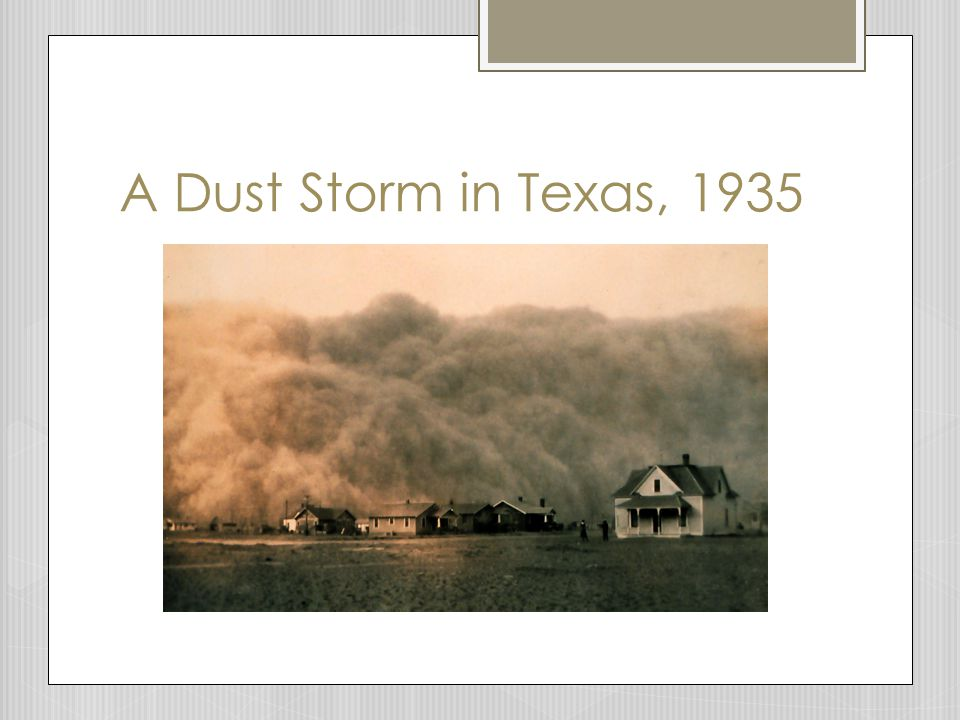 A Dust Storm in Texas, 1935