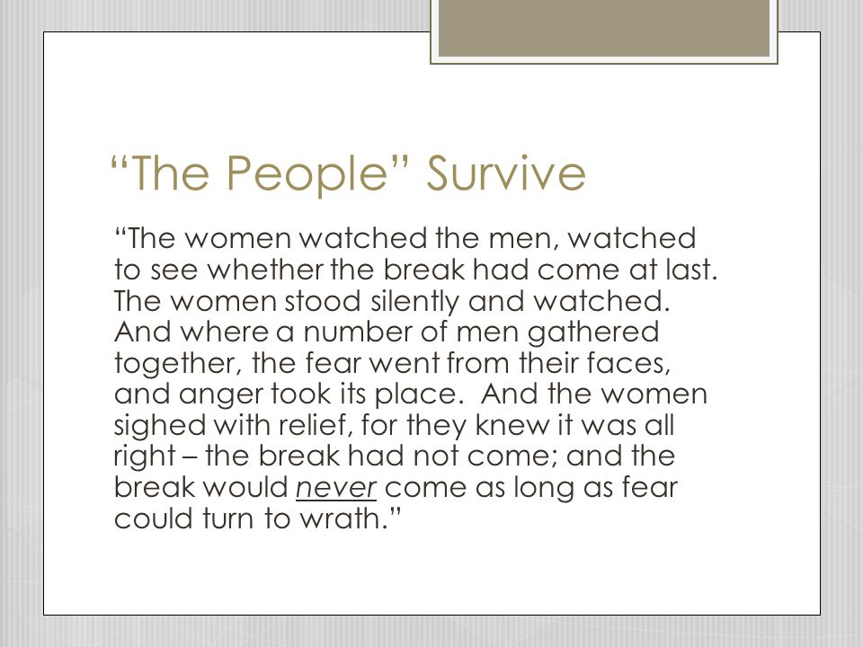 The People Survive