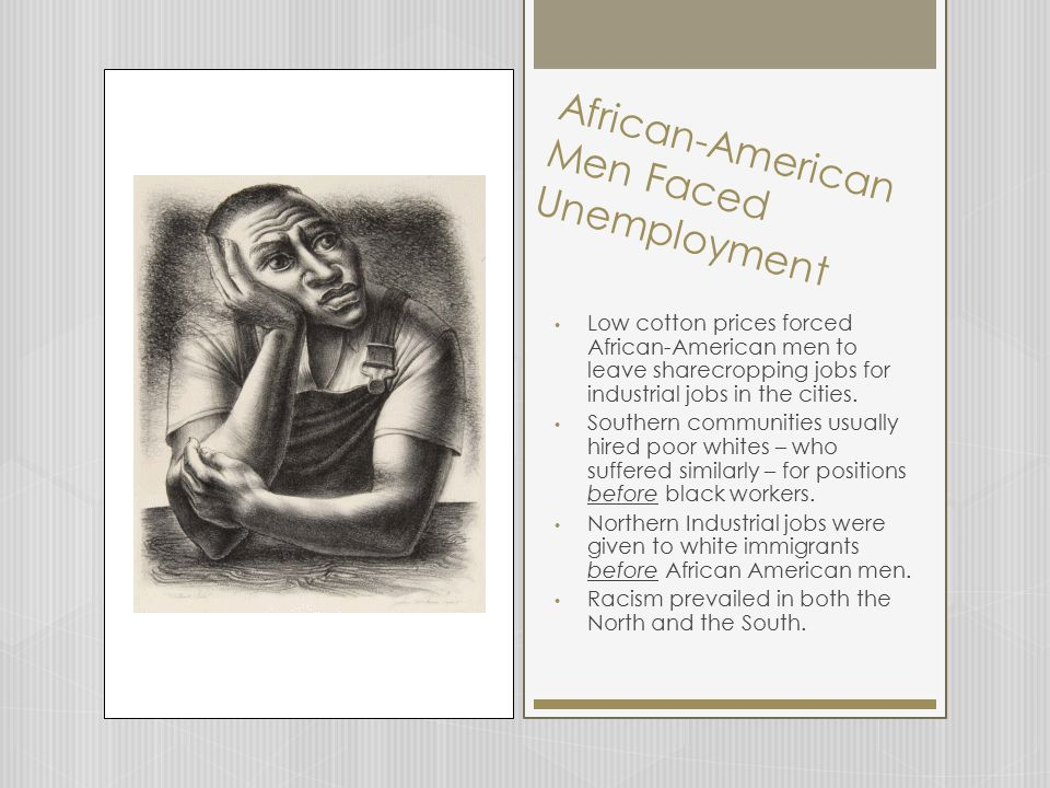 African-American Men Faced Unemployment