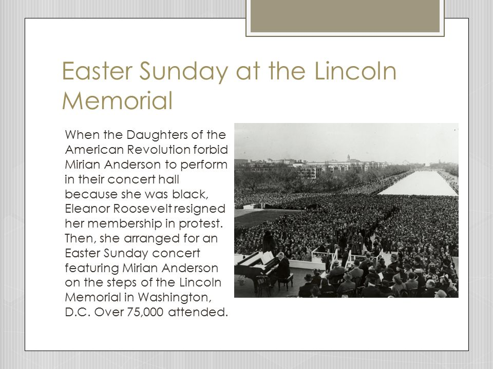 Easter Sunday at the Lincoln Memorial