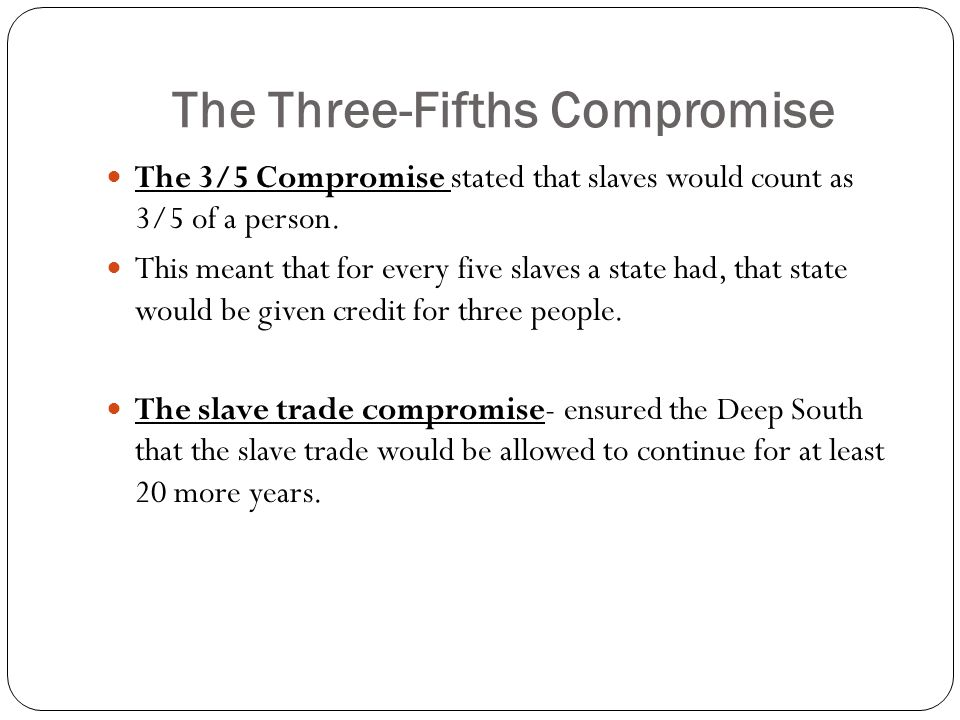 The Three-Fifths Compromise