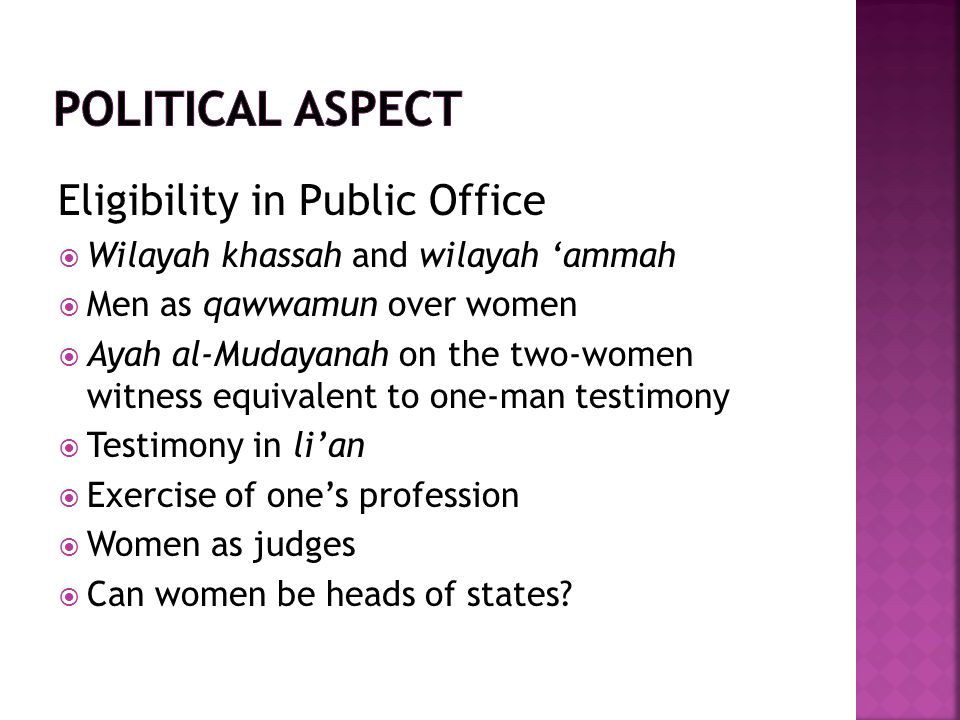 Political aspect Eligibility in Public Office