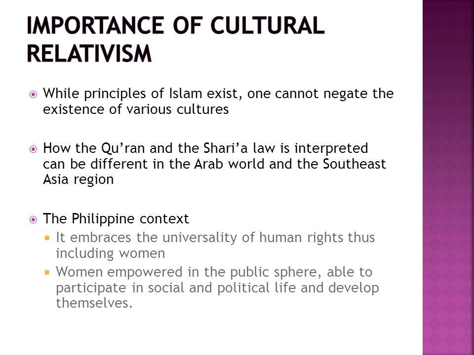Importance of Cultural relativism