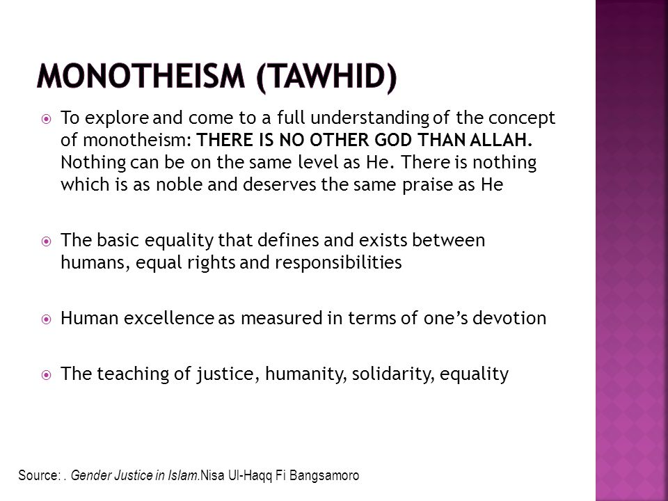 Monotheism (Tawhid)