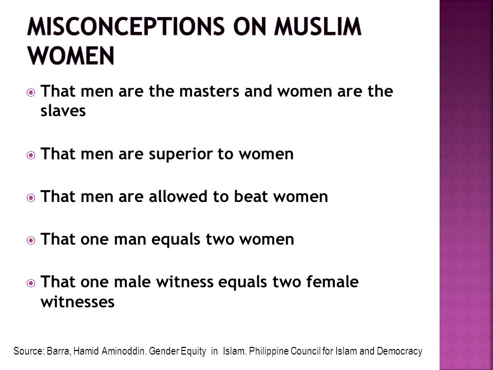Misconceptions on Muslim Women